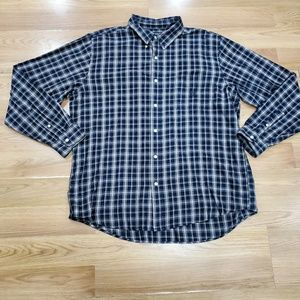 Chaps Plaid Button Up Shirt 2XL Blue/Red/Green
